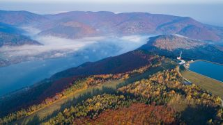 the Beskidy mountains in autumn